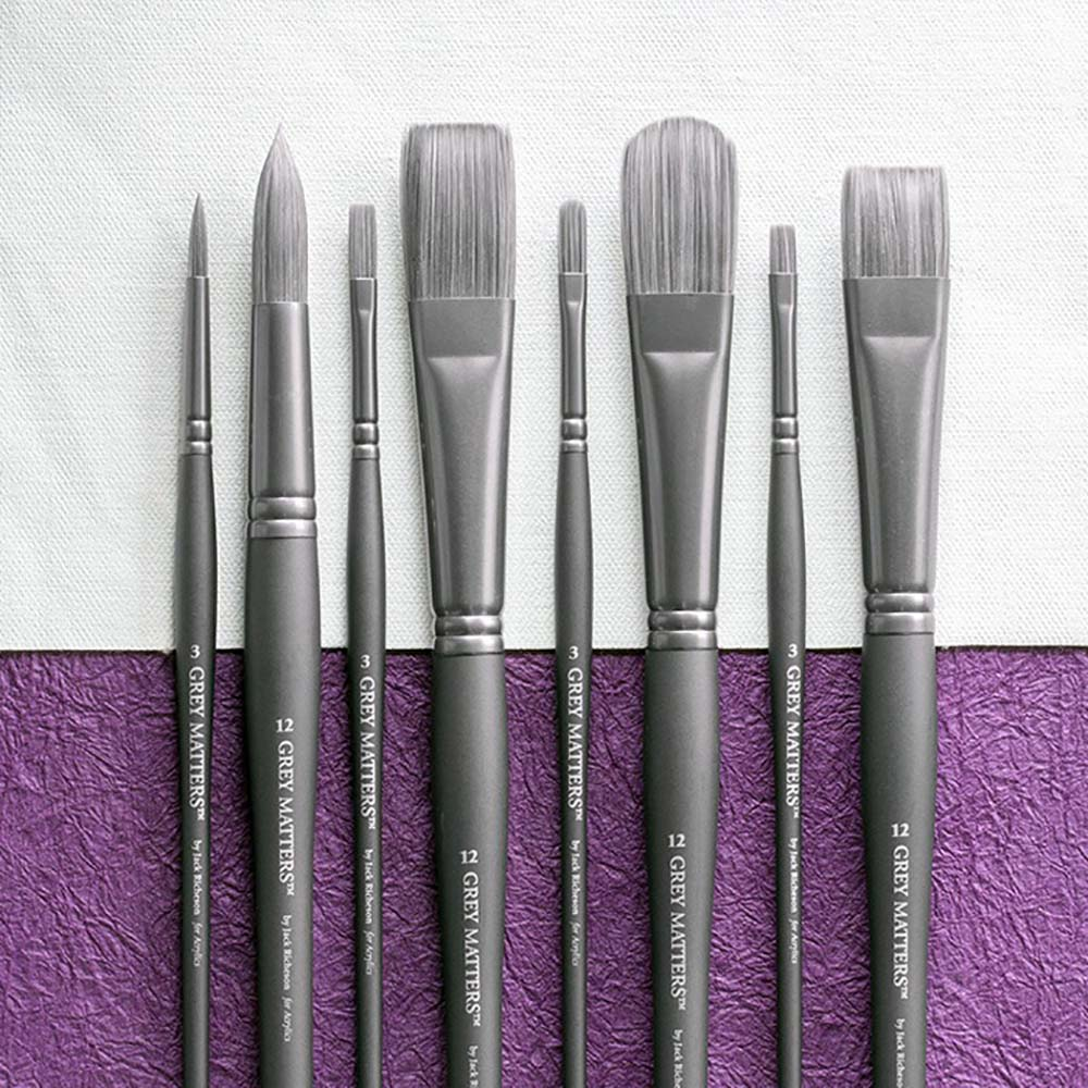 Grey Matters Brush Synthetic for Acrylic Round 4