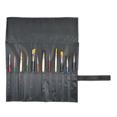Heritage Roll-Up Brush Holder Short Brushes