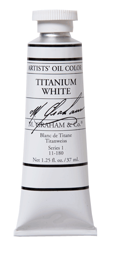 M Graham Oil Paint Titanium White 37ml