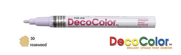 Marvy Deco Color Paint Marker Rosewood Broad Point