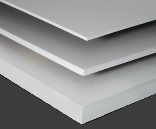 Cut Sizes of Sintra PVC Board White and Black
