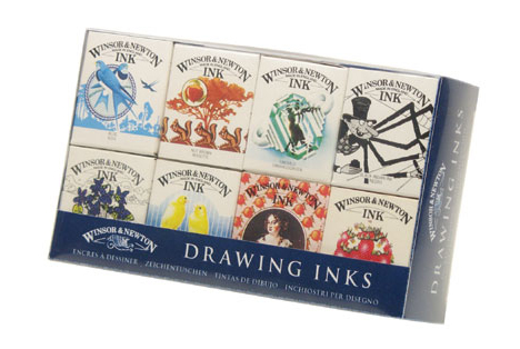 Winsor Newton Drawing Ink Set Of 8