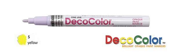 Marvy Deco Color Paint Marker Yellow Broad Point