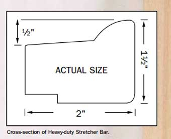 best heavy duty stretcher bar for canvas