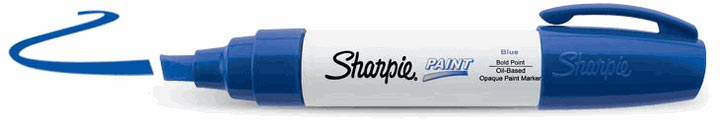 Sharpie Oil-Based Paint Marker Blue Bold