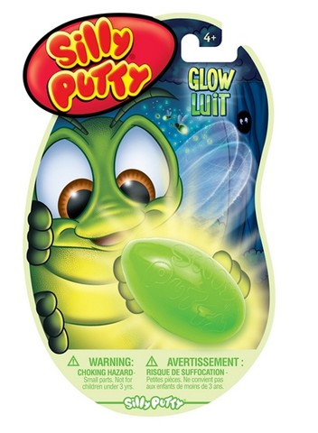 Silly Putty Glow In Dark Carded