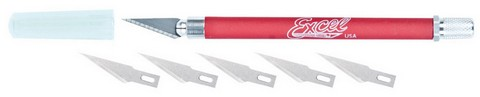Excel Grip-On  Soft Handle Knife #K18  W5 With Blades