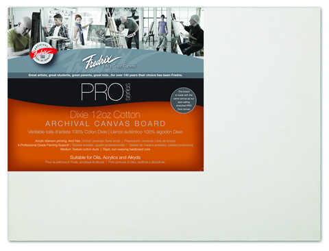 Pack Of 12 Fredrix Pro Series Archival Canvas Panels 9X12