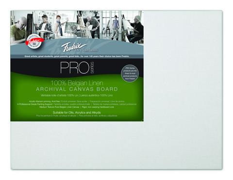 Pack Of 12 Fredrix Pro Series Archival Linen Canvas Panels 9X12