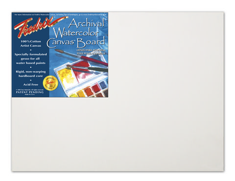 Pack Of 12 Fredrix Pro Series Archival Watercolor Canvas Boards 16X20