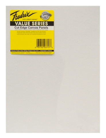 Fredrix Value Series Cut Edge Canvas Panel 12X16 6 Pack
