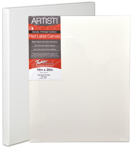 Pack Of 6 Fredrix Artist Series Red Label Stretch Canvas 24X24 11/16 Bars