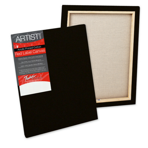 Pack Of 6 Fredrix Artist Series Red Label Stretch  Black Canvas 8X10