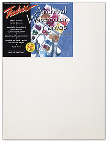 Pack Of 6 Fredrix Artist Series  Watercolor Canvas 16X20 11/16 Bars