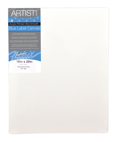 Pack Of 6 Fredrix Artist Series Ultrasmooth Blue Label Canvas 18X24 11/16 Bar