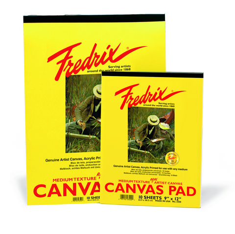 Fredrix White Real Canvas Pad 10 Sheets 9X12