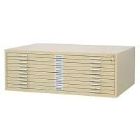 10-Drawer Sand Steel Flat File by Safco