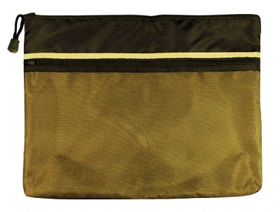 "10"" x 13"" Dual Zippered Pocket Fabric Mesh Bag by Alvin"