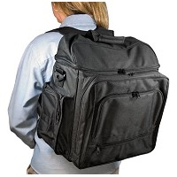 Traveler Artist Backpack Black by Heritage Arts