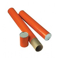 "Orange Fiberboard Tube 4"" I.D. x 37-1/4"" by Alvin"