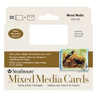 Mixed Media Announcement Size Cards 10-Pack