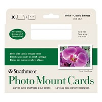 Embossed Photo Mount Cards 10-Pack