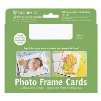 Photo Frame Cards 10-Pack White