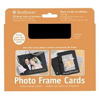 Photo Frame Cards 10-Pack Black