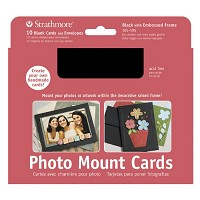 Photo Mount Cards 10-Pack Black