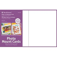 Photo Mount Cards 50-Pack White