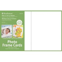 Photo Frame Cards 40-Pack White