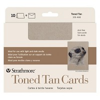 Toned Tan Sketch Cards