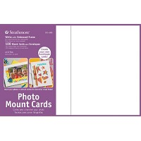 Photo Mount Cards 100-Pack White