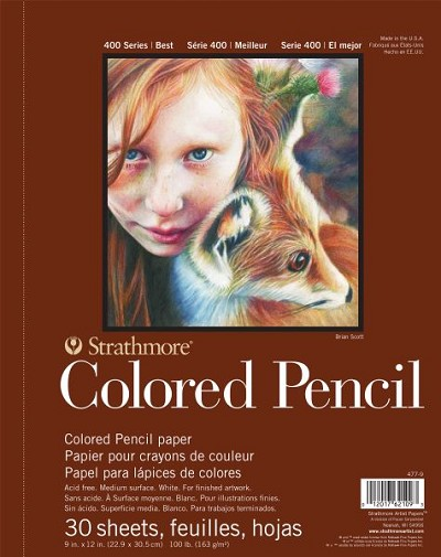"9"" x 12"" Wire Bound Colored Pencil Pad"