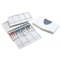 Winsor & Newton Cotman Watercolor Painting Plus 12-Color Tube Set