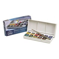 Winsor & Newton Cotman Watercolor Paint Sketchers Pocket Box Set