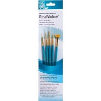Princeton RealValue Watercolor Acrylic and Tempera Golden Taklon Brush Set