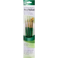 Princeton RealValue Oil Acrylic and Stain Golden Taklon Brush Set