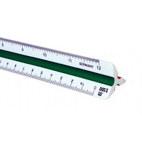 Alvin 240P Series 30cm High Impact Plastic Metric Triangular Scale