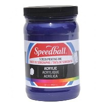 Speedball Acrylic Screen Printing Ink Process Cyanine 32oz
