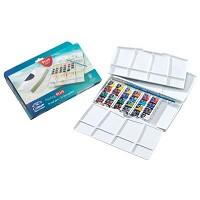 Winsor & Newton Cotman Watercolor Painting Plus 24-Color Set