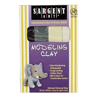 Sargent Art Non-Hardening Modeling Clay Natural 4-Pack