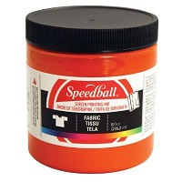 Speedball 8 oz. Fabric Screen Printing Ink Orange