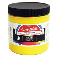 Speedball 8 oz. Acrylic Screen Printing Ink Medium Yellow