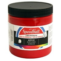 Speedball 8 oz. Acrylic Screen Printing Ink Dark Red