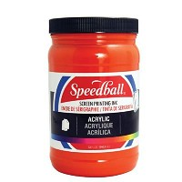 Speedball Acrylic Screen Printing Ink Fire Red 32oz.