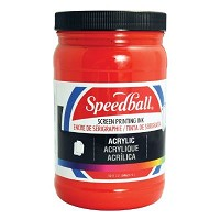Speedball Acrylic Screen Printing Ink Dark Red 32oz.