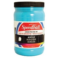 Speedball Acrylic Screen Printing Ink Peacock Blue 32oz
