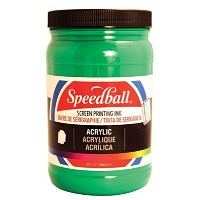 Speedball Acrylic Screen Printing Ink Emerald Green 32oz