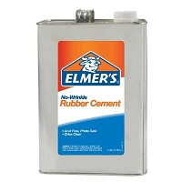 Elmer's No-Wrinkle Rubber Cement 1gal